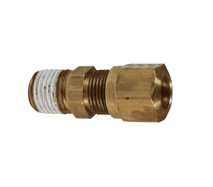"68NAB66VS Dixon Brass Air Brake Fitting - Male Connector - 3/8"" Tube OD - 3/8"" Pipe Thread - 17/32""-24 Straight Thread (Pack of 25)"