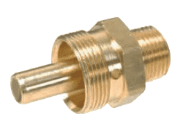 "68RB-0608B Dixon Brass Air Brake Fitting - Male Connector - Body Only - 3/8"" Tube OD - 1/2"" Pipe Thread - 31/32""-20 Straight Thread"