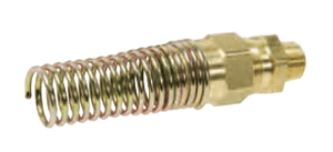"68RBSG-0606 Dixon CA360 Brass Air Brake Fitting - Male Connector with Spring Guard - 3/8"" Hose Size - 3/8"" Pipe Thread"