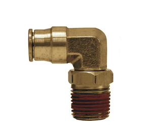 "69S5x10 Dixon Forged Brass Push-In Fitting - Male Swivel Elbow - 5/32"" Tube OD x 10-32 Male UNF"