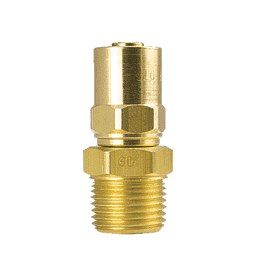 "6P13 ZSi-Foster Reusable Hose Fitting - Non Swivel Adapter - 1/2"" ID x 13/16"" OD - 1/2"" MPT - Brass"