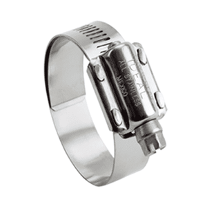 "6M55051 Ideal Tridon Pow'r-Gear® Clamp 6M Series - 300 Stainless - 5/8"" Band Width - Clamp Range: 4-3/4"" to 5-5/8"" - Pack of 10"