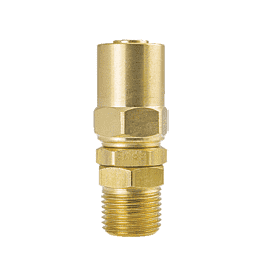 "6P15MS ZSi-Foster Reusable Hose Fitting - Swivel Under Pressure Adapter - 1/2"" ID x 7/8"" OD - 1/2"" MPT - Brass"