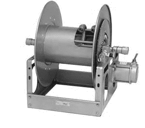7000 Hannay Electric Powered Rewind Dual Hose Reel (EP-7024-19-21) 12 Volt DC