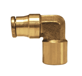 "7012x8 Dixon Forged Brass Push-In Fitting - Female Elbow - 3/8"" Tube OD x 1/4"" Male NPTF"