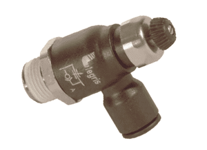 "70655611 Legris Compact Flow Control Valve - 1/4"" Tube OD x 1/8"" NPT (Pack of 10)"
