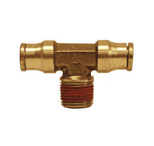 "7212x12 Dixon Forged Brass Push-In Fitting - Male Branch Tees - 3/8"" Tube OD x 3/8"" Male NPTF"