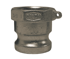 "400-A-PM Dixon 4"" Plated Iron Boss Lock Type A Adapter"