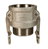 "400-B-SS Dixon 4"" 316 Stainless Steel Type B Coupler"