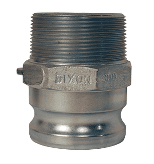 "100-F-PM Dixon 1"" Plated Iron Boss Lock Type F Adapter"
