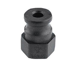 "125A Banjo Polypropylene Cam Lever Coupling - Part A - 1"" Male Adapter x 1-1/4"" Female NPT - 125 PSI - Gasket: N/A (Pack of 10)"