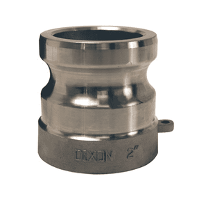 "400AWSPSS Dixon 4"" 316 Stainless Steel Adapter for Welding - Socket Weld to Schedule 40 Pipe - 4.530 Bore"