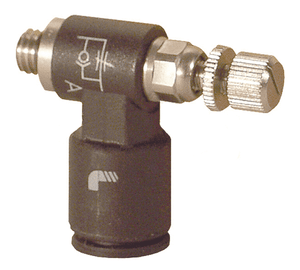 "76605620 Legris Miniature Exhaust Flow Control Valve - 1/4"" Tube OD x 10-32 UNF (Pack of 10)"