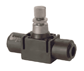"77705600 Legris In-Line Flow Control Valve - 1/4"" Tube OD (Pack of 10)"