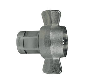 "8WF8 Dixon Steel W-Series Quick Disconnect 1"" Wingstyle Interchange Hydraulic Coupler - 1""-11-1/2 Female NPTF"