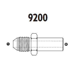 9200-20-38 Adaptall Carbon Steel -20 Male JIC x -38 Metric Standpipe Adapter