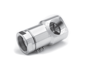 "9SS12DBFP75XFP75-304-AL (24119-304-AL)  Super Swivel 90° 3/4-14 Female Pipe NPTF x 3/4-14 Female Pipe NPTF - 0.610"" Through Hole - 304 Stainless Steel - AFLAS Seal"