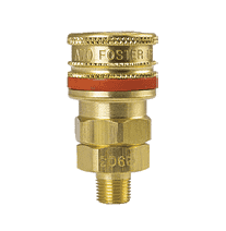 "BLA-3103 ZSi-Foster Quick Disconnect A70 Series 1/4"" Standard Socket - 15/16"" MPT - Ball Lock, Brass"