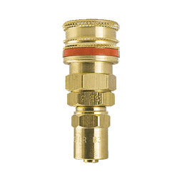"A-SD9 ZSi-Foster Quick Disconnect A70 Series 1/4"" Standard Socket - 3/8"" ID x 11/16"" OD - Reusable Hose Clamp - Brass"