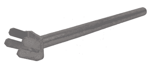 "ACB304 Dixon 10"" and 12"" Type B (Bauer Style) Quick Connect Fitting Accessory - Lever Assist Bar - Galvanized Steel"