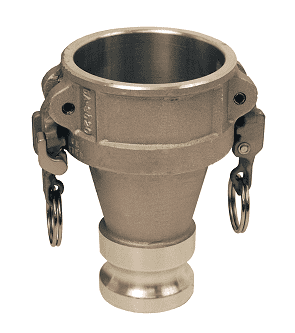 "ADA3040EZ Dixon 3"" x 4"" 356T6 Aluminum EZ Boss-Lock Reducing Cam and Groove Coupler x Adapter"