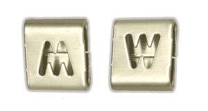 "AE0229 Band-It Easy Read Character ""W"" (used as M or W) - 316SS - 100 Pieces/Bag"