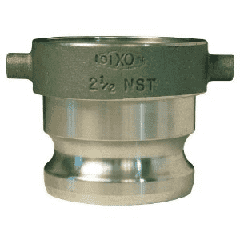 "AHA2525ADP Dixon Aluminum Hydrant Adapter - 2-1/2"" Female NST Thread x 2-1/2"" Male Adapter"