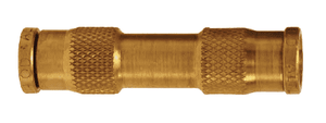 "AQ62DOT6 Dixon Brass CA360 D.O.T. Push-In Fitting - Union Connector - 3/8"" Tube OD (Pack of 10)"