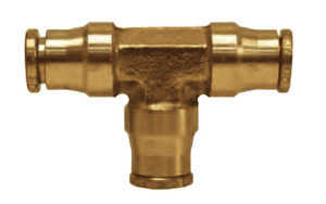 "AQ64DOT4 Dixon Brass CA377 D.O.T. Push-In Fitting - Union Tee - 1/4"" Tube OD (Pack of 10)"
