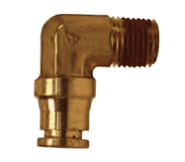 "AQ69DOT4x4 Dixon Brass CA377 D.O.T. Push-In Fitting - Male Elbow - 1/4"" Tube OD x 1/4"" Male NPT (Pack of 10)"
