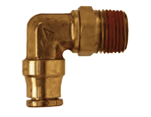 "AQ69DOTS4x2 Dixon Brass CA377 D.O.T. Push-In Fitting - Swivel Male Elbow - 1/4"" Tube OD x 1/8"" Male NPT (Pack of 10)"
