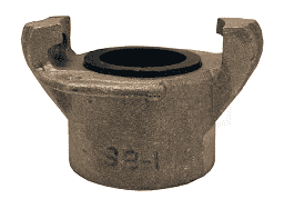ASC125 Dixon Aluminum Sand Blast Threaded Coupling - 1-1/4""