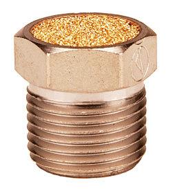 "ASP-2BV Dixon Nickel Plated Steel Breather Vent - 1/4"" NPT Thread Size x 5/8"" Overall Length"