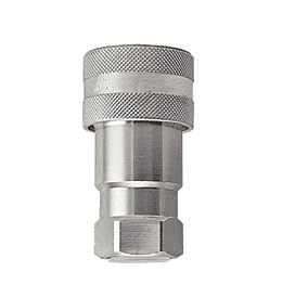 "B-6601-2-4 ZSi-Foster Quick Disconnect ISO-A Series Socket - 1/4"" - 1/8-27 NPTF - Steel"