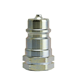 "B-6602-4-4 ZSi-Foster Quick Disconnect ISO-A Series Plug - 1/4"" - 1/4-18 NPTF - Steel"