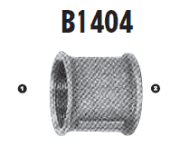 B1404-40-40 Adaptall Malleable Iron -40 Female BSP x -40 Female BSP Solid Adapter