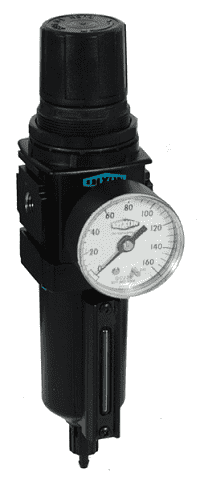 "B18-04AGMB Dixon Wilkerson 1/2"" Compact Filter / Regulators with Metal Bowl with Sight Glass - Automatic Drain - 121 SCFM"