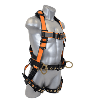 B2102 Malta Dynamics Warthog® MAXX Construction Belted Side D-Ring Harness (S-M-L)
