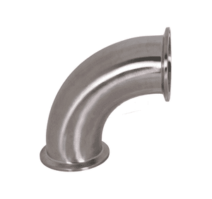 "B2CMP-R100 Dixon 316L Stainless Steel Sanitary 90 deg. Clamp Elbow - 1"" Tube OD"