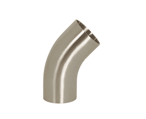 "B2KS-G400P Dixon 304 Stainless Steel Sanitary Polished 45 deg. Weld Elbow with Tangent - 4"" Tube OD"