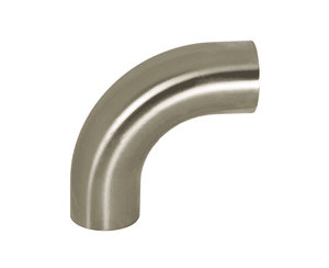 "B2S-G100P Dixon 304 Stainless Steel Sanitary Polished 90 deg. Weld Elbow with Tangent - 1"" Tube OD"