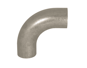 "B2S-G150U Dixon 304 Stainless Steel Sanitary Unpolished 90 deg. Weld Elbow with Tangent - 1-1/2"" Tube OD"
