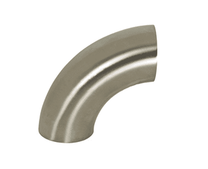 "B2WCL-G200P Dixon 304 Stainless Steel Sanitary Polished 90 deg. Weld Elbow - 2"" Tube OD"