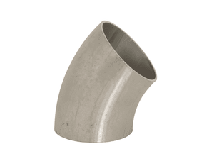 "B2WK-G150U Dixon 304 Stainless Steel Sanitary Unpolished 45 deg. Weld Elbow - 1-1/2"" Tube OD"