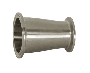 "B3114MP-G200150 Dixon 304 Stainless Steel Sanitary Clamp Concentric Reducer - 2"" x 1-1/2"" Tube OD"