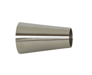 "B31W-G200150P Dixon 304 Stainless Steel Sanitary Polished Concentric Weld Reducer - 2"" x 1-1/2"" Tube OD"