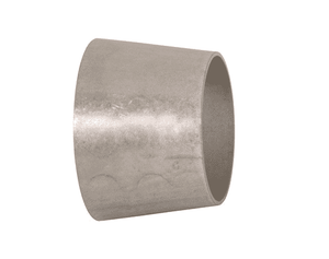 "B31W-G150100U Dixon 304 Stainless Steel Sanitary Unpolished Concentric Weld Reducer - 1-1/2"" x 1"" Tube OD"