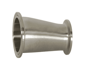 "B3214MP-G200150 Dixon 304 Stainless Steel Sanitary Clamp Eccentric Reducer - 2"" x 1-1/2"" Tube OD"