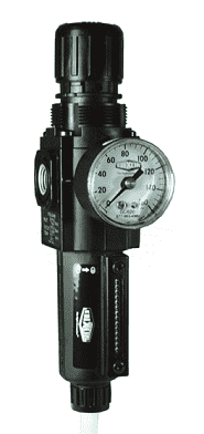 "B72G-2AG-MB Dixon Series 1 Filter / Regulators - 1/4"" Sub-Compact with Metal Bowl and Sight Glass - Semi-Automatic Drain - 80 SCFM"
