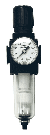 "B73G-2AG Dixon Series 1 Filter / Regulators - 1/4"" Compact with Transparent Bowl - Automatic Drain - 78 SCFM"